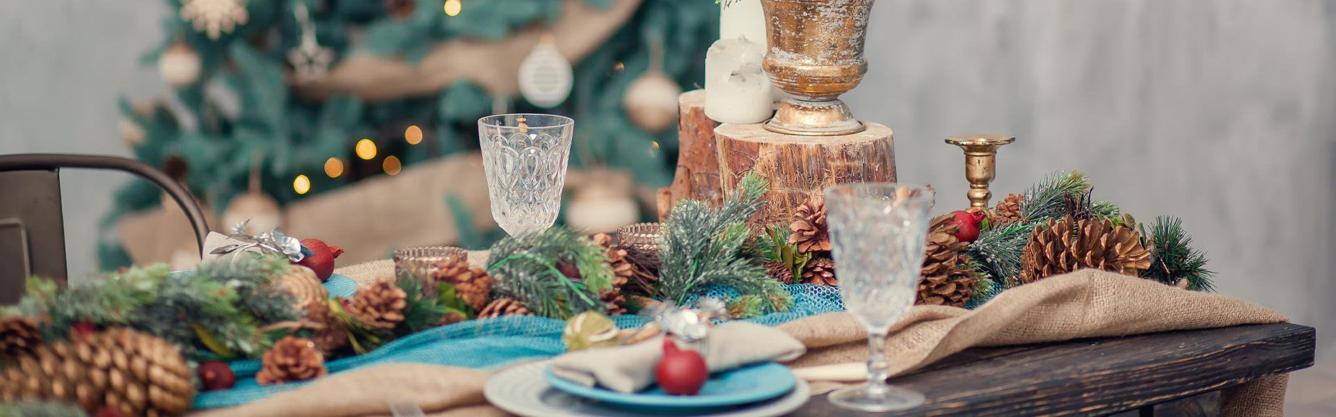 Caminos de mesa para decorar la mesa de Navidad